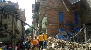 Disaster relief volunteer Nepal